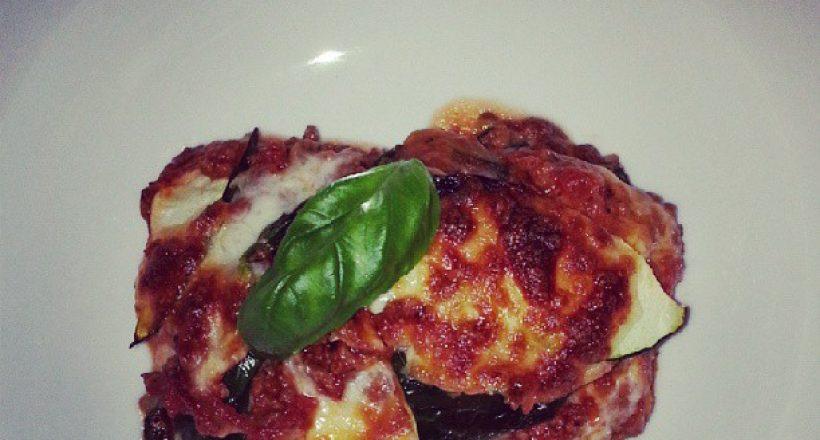 Courgette en spinazie lasagne