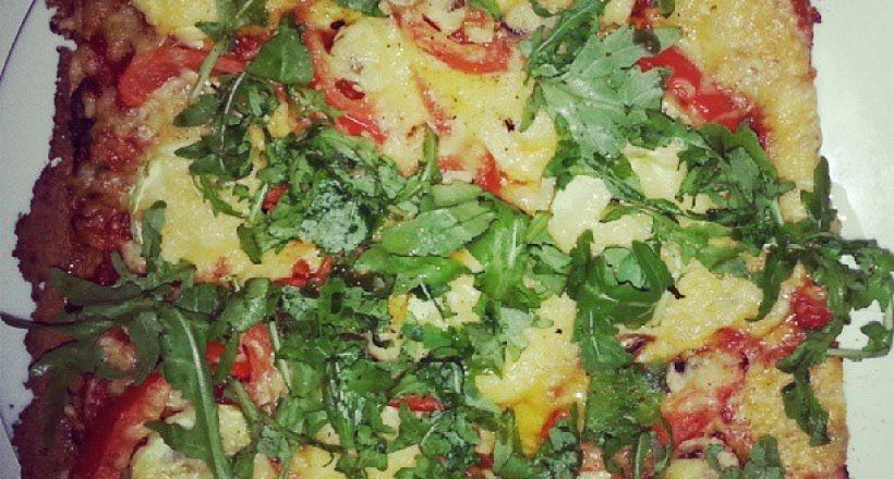 A Healthy pizza