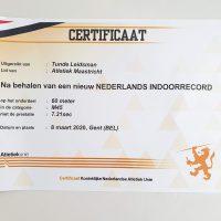 Nieuw Nederlands Indoorrecord :-)